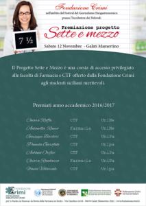 Manifesto Premiazione Progetto Sette e mezzo 2016